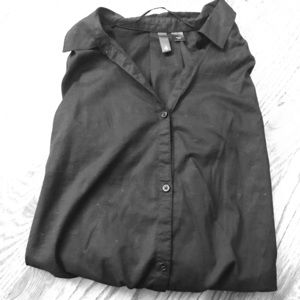 H&M Black Button-Down Shirt